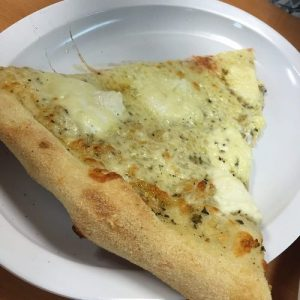Slice of White Pizza from Genna Pizza